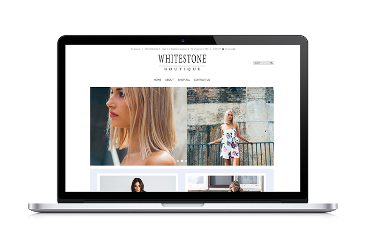 Whitestone Boutique Website Design